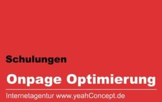 Schulung zur Onpage Optimierung