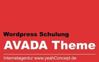 Wordpress Schulung Muenchen für das Avada-Theme
